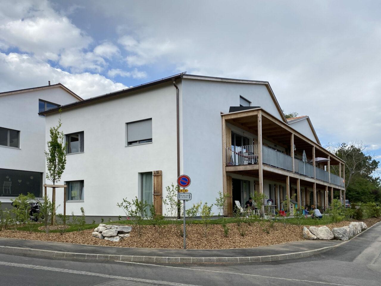 Bernex EcoCocon balcon bois